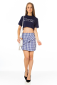 T-shirt Cropped com Lettering 2