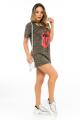 T-shirt Dress Camuflado com Detalhe Trançado 3