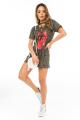 T-shirt Dress Camuflado com Detalhe Trançado 5