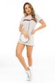 T-shirt Dress com Listra