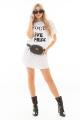T-shirt Dress Destroyed com Lettering 5