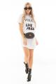 T-shirt Dress Destroyed com Lettering 2