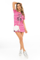 T-shirt Dress Listrado com Etampa Frontal 6