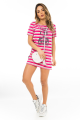 T-shirt Dress Listrado com Etampa Frontal 3