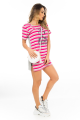 T-shirt Dress Listrado com Etampa Frontal 4