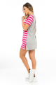T-shirt Dress Listrado com Etampa Frontal 5