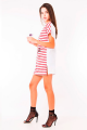 T-shirt dress Listrada com Lettering 3