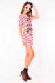 T-shirt dress Listrada com Lettering 2