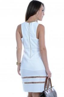Vestido Branco com Recortes 2