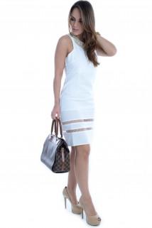 Vestido Branco com Recortes 3