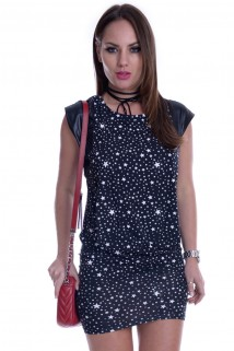 Vestido Curto Estrelado 3