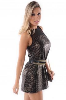 Vestido de Lycra com Tule 4
