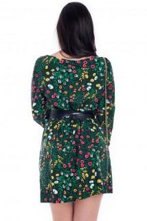 be9513add8 Vestido Feminino Floral Amplo com Decote Trançado VE1646 - Kam Bess