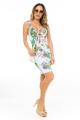 Vestido Floral com Detalhe no Decote