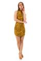 Vestido Jacquard com Gola Alta e Zíper 2