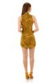 Vestido Jacquard com Gola Alta e Zíper 4