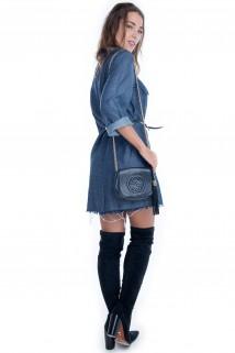 Vestido Jeans com Bolso 2