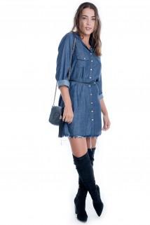 Vestido Jeans com Bolso 3