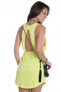 Vestido Neon com Bolso 2