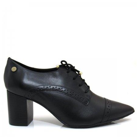 Bota Ankle Boot Bico Fino Salto Grosso Verofatto 6009123 Couro