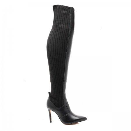 Bota Feminina Over The Knee Bico e Salto Fino Verofatto 6009305