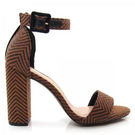 Sandália Feminina Salto Grosso Uza Shoes A15a514c0171