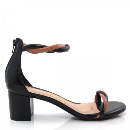 Sandália Feminina Salto Grosso Uza Shoes A15b537c0038