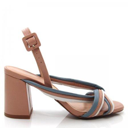 Sandália Feminina Salto Grosso Uza Shoes A15b550a0014