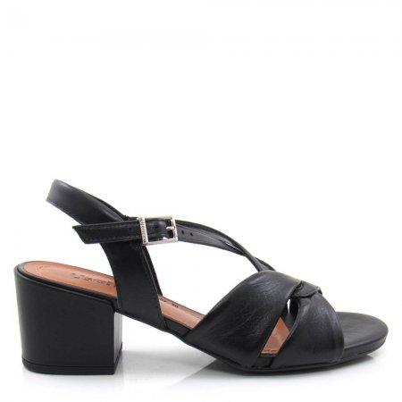 Sandália Salto Grosso Feminina Usaflex AE0602 Couro Básica