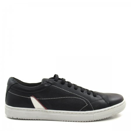 Sapatênis Masculino em Couro Olfer Shoes 1744 Elástico