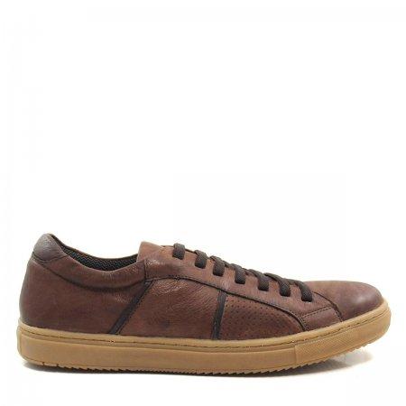 Sapatênis Masculino em Couro Olfer Shoes 1746 Elástico