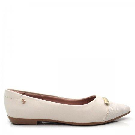 Sapatilha Bico Fino Feminina Olfer Shoes 1266-018 Cap Toe