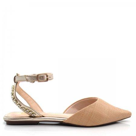 Sapatilha Feminina Bico Fino Olfer Shoes 50005-03 Pedras