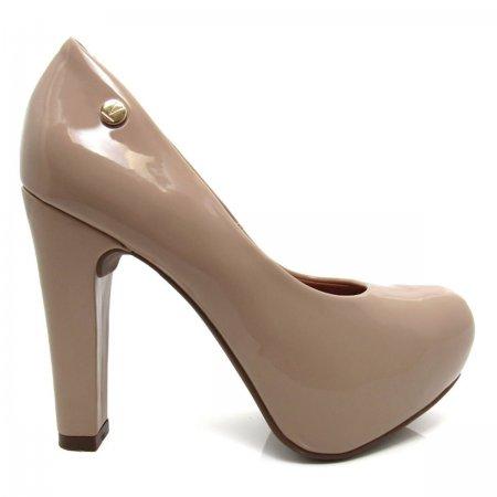 Sapato Feminino Scarpin Bico Redondo Meia Pata Salto Grosso 1263100