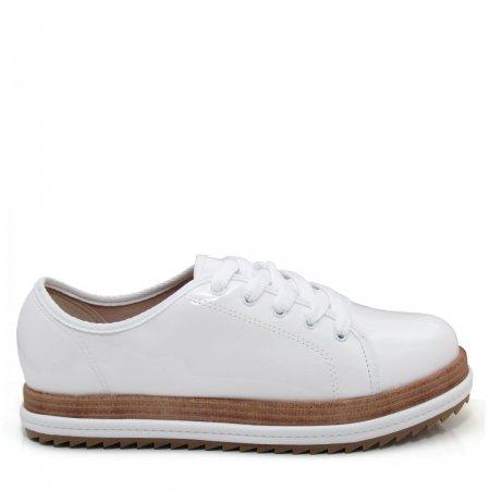 Sapato Oxford Flatform Feminino Beira Rio 4196203 Verniz