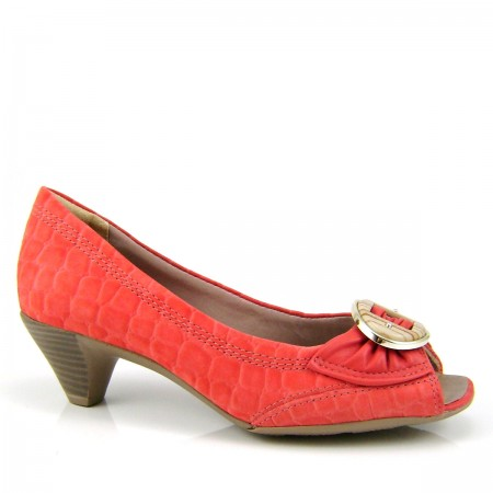 Sapato Peep Toe Comfortflex