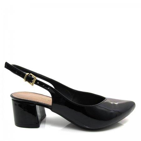 Sapato Scarpin Chanel Feminino  Mariotta Salto Grosso17720-348