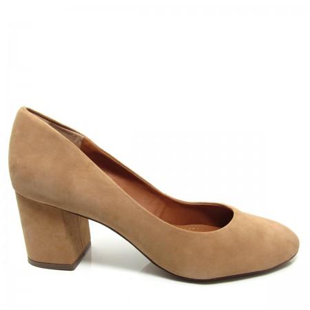 Sapato Scarpin Feminino Bico Redondo Santa Flor 312003 Couro