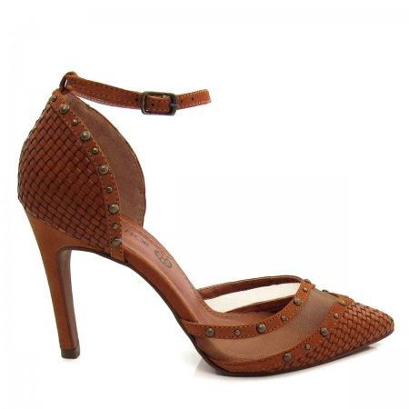 Sapato Scarpin Feminino Salto Fino Santa Flor 405022 Couro