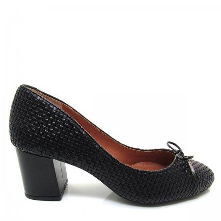 Sapato Scarpin Feminino Salto Grosso Santa Flor 312009 Couro