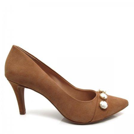 Sapato Scarpin Salto Fino Santa Flor 315008 Couro