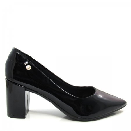 Scarpin Bico Fino Feminino Salto Grosso Olfer Shoes 1240001