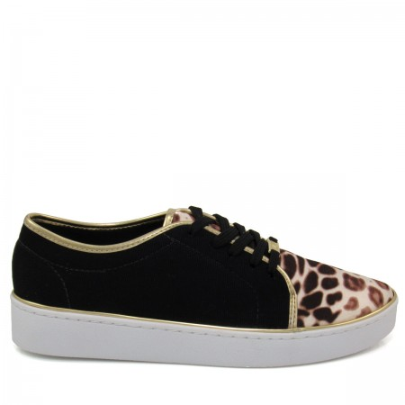Tênis casual Feminino Vizzano 1214102 estampa animal print