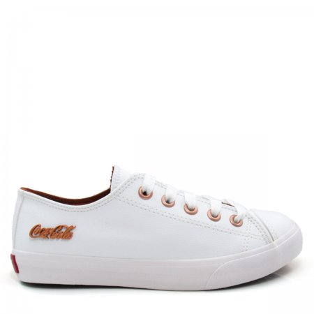 Tênis Feminino Casual Coca Cola Shoes CC0887 Basket Low