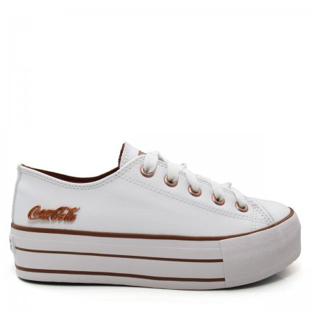 Tênis Feminino Flatform Coca Cola Shoes CC1550 Basket