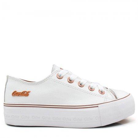 Tênis Flatform Coca Cola Shoes Feminino Atlanta CC1775 Couro