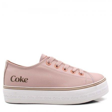 Tênis Plataforma Coca Cola Shoes CC1852 Ella Feminino Couro