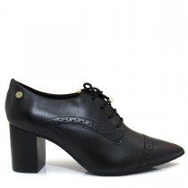 Imagem - Bota Ankle Boot Bico Fino Salto Grosso Verofatto 6009123 Couro - 004074