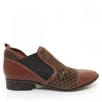 Imagem - Bota Feminina Cano Curto Of Shoes 7147 Salto baixo Couro - 003351