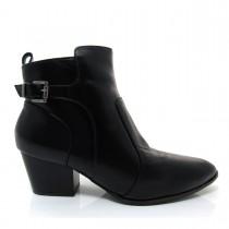 Imagem - Bota Feminina Cano Curto Of Shoes 7236 Salto baixo Couro - 003352